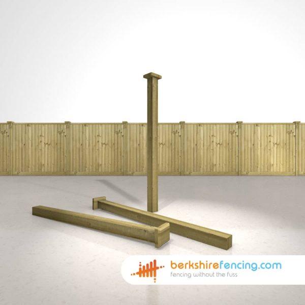 Designer Wooden Fence Post Bevelled Cap 90mm x 90mm x 25mm natural