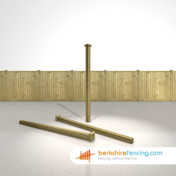 Garden Wooden Fence Post Bevelled Cap 90mm x 90mm x 25mm natural