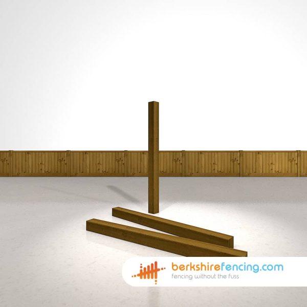 Garden Wooden Fence Posts 100mm x 100mm x 1500mm brown