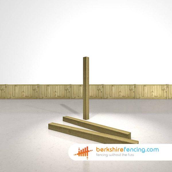 Designer Wooden Fence Posts 100mm x 100mm x 1500mm natural