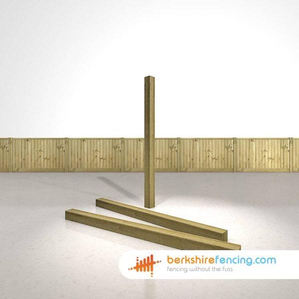 Designer Wooden Fence Posts 100mm x 100mm x 1800mm natural