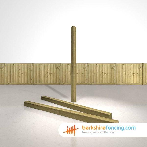 Wooden Fence Posts 210cm x 10cm x 10cm natural