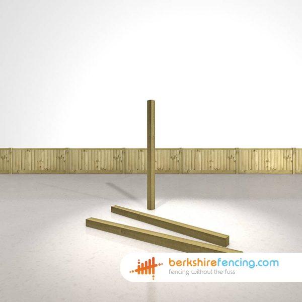 Designer Wooden Fence Posts 75mm x 75mm x 1500mm natural