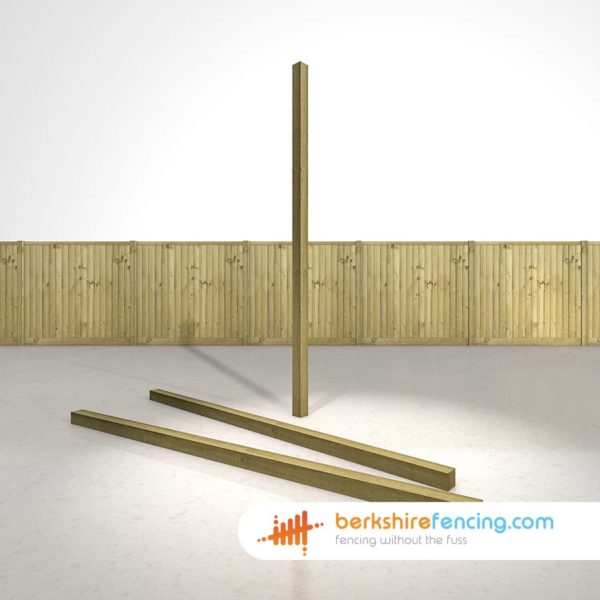Wooden Fence Posts 240cm x 7.5cm x 7.5cm natural