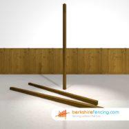 Garden Wooden Fence Posts 75mm x 75mm x 2700mm brown