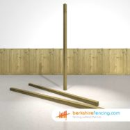 Wooden Fence Posts 270cm x 7.5cm x 7.5cm natural