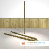 Wooden Fence Posts 270cm x 7.5cm x 7.5cm natural