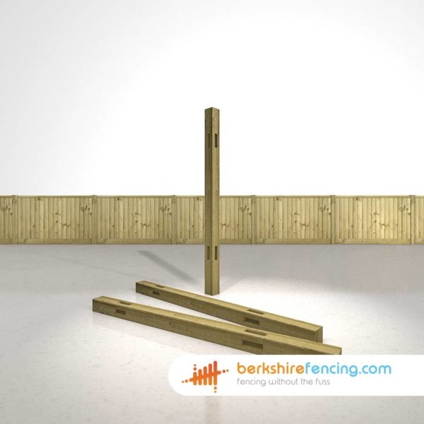 Wooden Morticed Corner Fence Posts 180cm x 10cm x 10cm natural