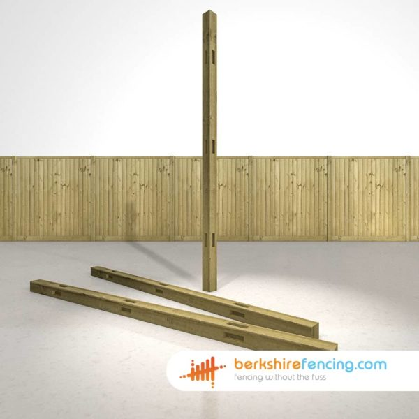 Exclusive Wooden Morticed Corner Fence Posts 100mm x 100mm x 2700mm natural