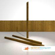 Wooden Morticed End Fence Posts 270cm x 10cm x 10cm brown