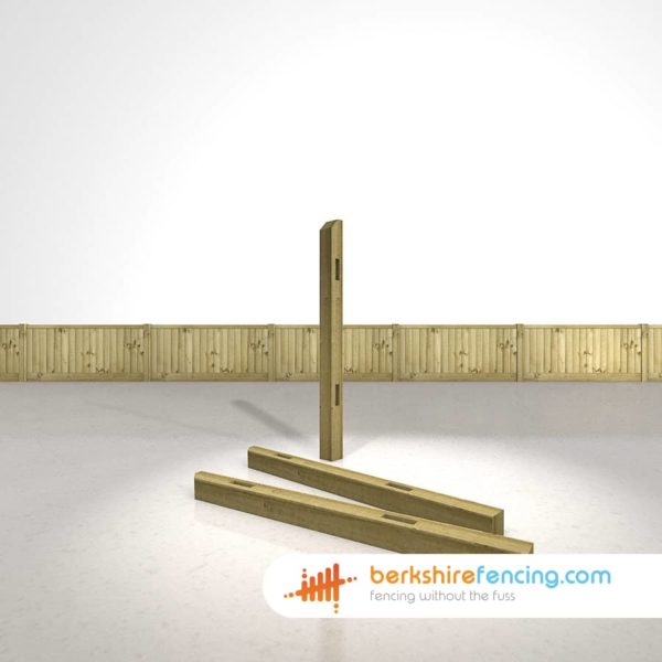 Wooden Morticed Intermediate Fence Posts 150cm x 10cm x 10cm natural