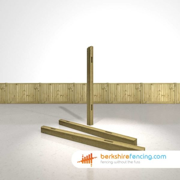 Wooden Morticed Intermediate Fence Posts 180cm x 10cm x 10cm natural