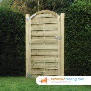 Arched Top Horizontal Panelled Gate 180cm x 90cm x 2cm natural