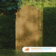 Arched Top Tongue and Groove Panelled Gate 180cm x 90cm x 2cm brown