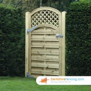 Exclusive Arched Trellis Top Horizontal Panelled Gate 1800mm x 900mm x 50mm natural