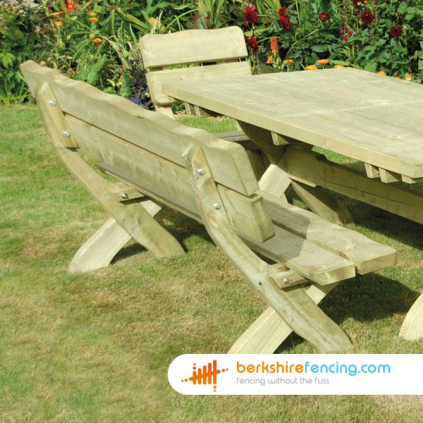 Designer Country Style Bench 1800mm x 900mm x 700mm natural