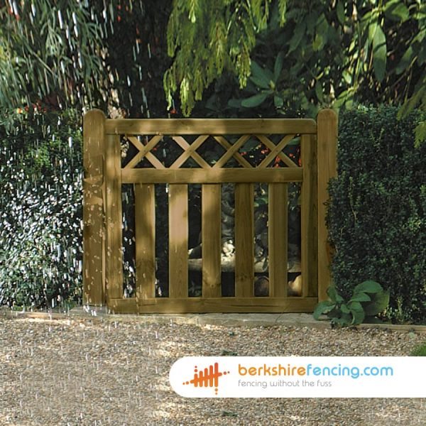 Garden Cross Top Smooth Planed Decorative Gate 900mm x 900mm x 50mm brown