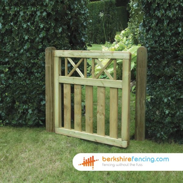 Elite Cross Top Smooth Planed Decorative Gate 90cm x 90cm x 2cm natural