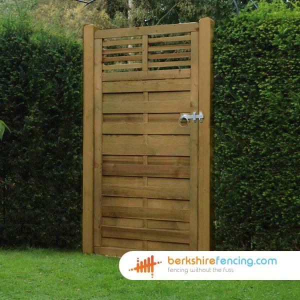 Exclusive Elite Slatted Top Gate 1800mm x 900mm x 50mm brown