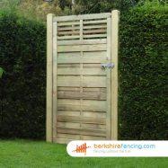 Garden Elite Slatted Top Gate 1800mm x 900mm x 50mm natural