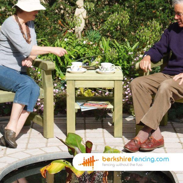 Garden Conversation Table 50cm x 50cm x 50cm natural