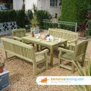 Garden Table 76cm x 150cm x 86cm natural