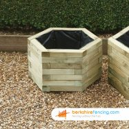 Hexagonal Planter 34cm x 54cm x 54cm natural