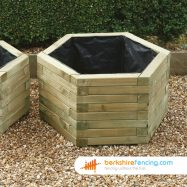 Designer Hexagonal Planter 650mm x 650mm x 390mm natural
