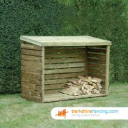 Garden Log Store 900mm x 2000mm x 1500mm natural