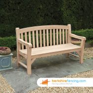 Garden Oak Bench 1500mm x 500mm x 750mm brown