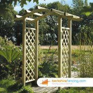 Designer Omega Top Arch 600mm x 1250mm x 2600mm natural