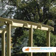 Designer Pergola Angled Rail 2100mm x 50mm x 100mm natural