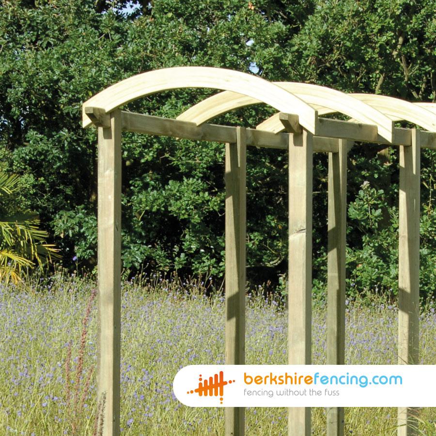Pergola Arch 50mm X 1200mm X 100mm Natural Berkshire Fencing
