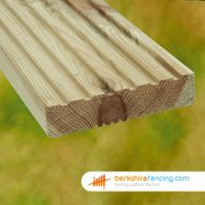Garden Planed Decking Boards 3600mm x 125mm x 32mm natural