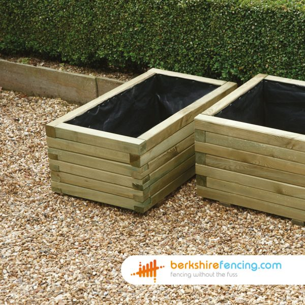 Exclusive Rectangular Planter 700mm x 400mm x 290mm natural