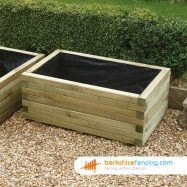 Rectangular Planter 34cm x 82cm x 52cm natural