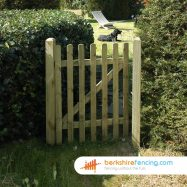 Garden Round Top Picket Gate 900mm x 1200mm x 50mm natural