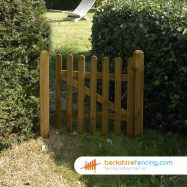 Round Top Picket Gate 90cm x 90cm x 2cm brown