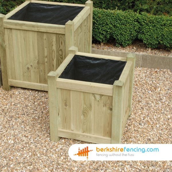 Exclusive Square Planter 500mm x 500mm x 500mm natural