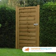 Square Top Horizontal Panelled Gate 180cm x 90cm x 2cm brown