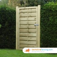 Square Top Horizontal Panelled Gate 180cm x 90cm x 2cm natural