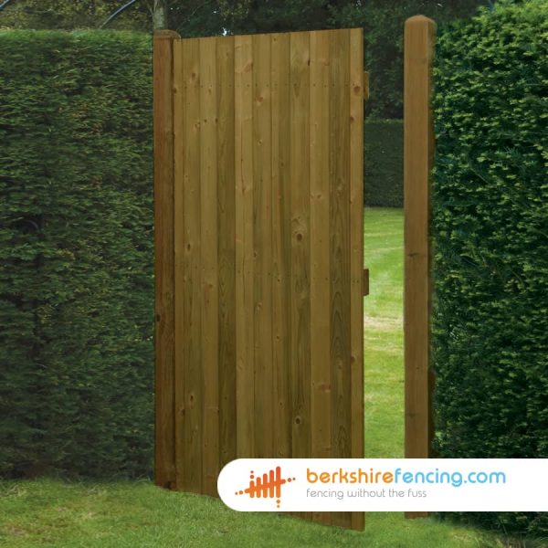 Exclusive Square Top Tongue and Groove Panelled Gate 1800mm x 900mm x 50mm brown