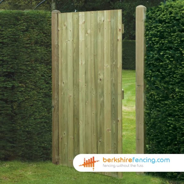 Square Top Tongue and Groove Panelled Gate 180cm x 90cm x 2cm natural
