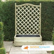 Exclusive Trellis Planter 1000mm x 500mm x 1530mm natural