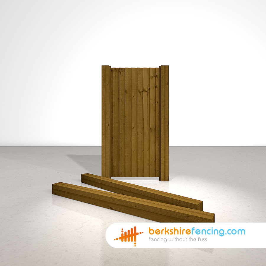 Wooden Gate Posts Uc4 Pointed Top 125mm X 125mm X 1800mm