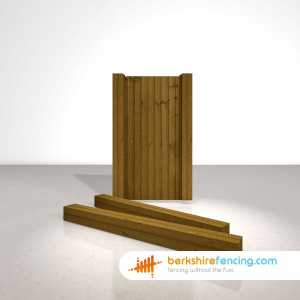 Exclusive Wooden Gate Posts UC4 Pointed Top 150mm x 150mm x 1800mm brown