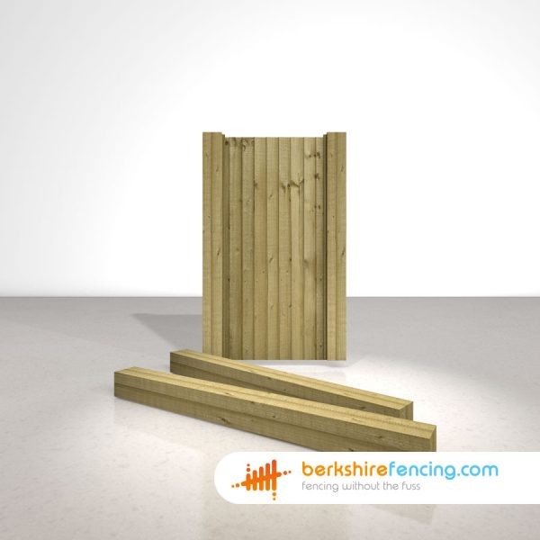 Exclusive Wooden Gate Posts UC4 Pointed Top 150mm x 150mm x 2100mm natural