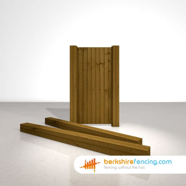 Wooden Gate Posts UC4 Pointed Top 240cm x 15cm x 15cm brown