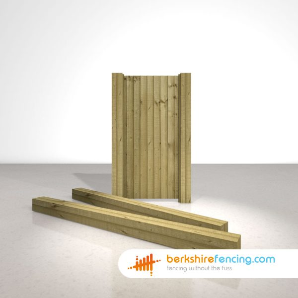 Garden Wooden Gate Posts UC4 Pointed Top 150mm x 150mm x 2400mm natural