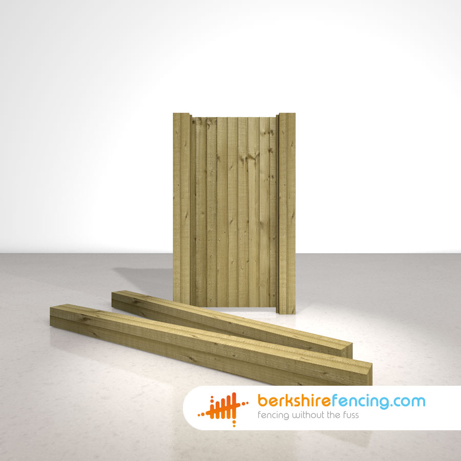 Wooden Gate Posts Uc4 Pointed Top 150mm X 150mm X 2400mm